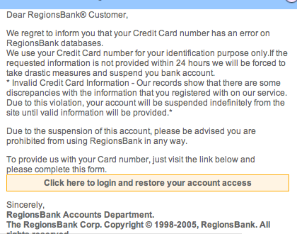 phishing attempt